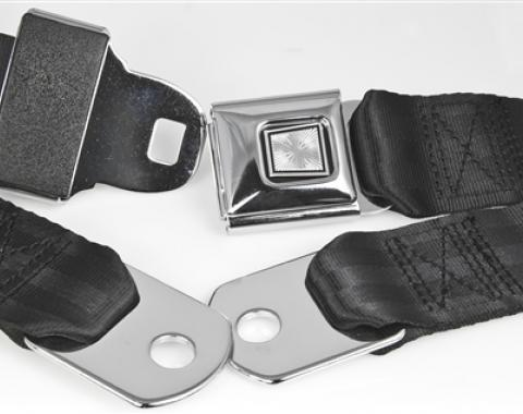"""Replacement Lap Belt With Chrome Push-Button Buckle (75"""" Webbing)"""