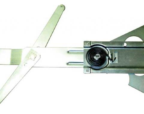 AMD Front Door Manual Window Regulator, LH, 69 Chevelle GTO Skylark Cutlass (2DR Coupe & Convertible) X545-3469-L