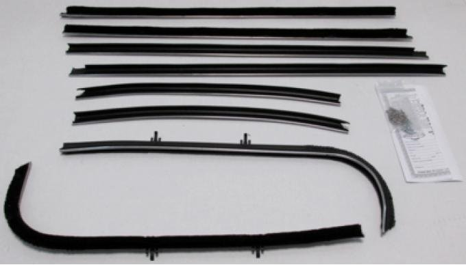 Montco Inc / Repops Window Felts, Inner & Outer (8pcs), 69-72 GTO 2DR Sedan (Post) R-GT123A