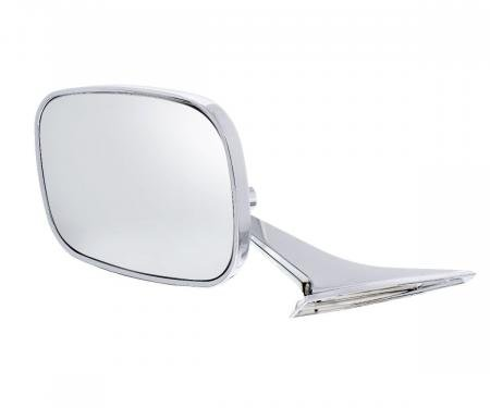 United Pacific Rectangular Exterior Mirror For 1968-72 Chevy Passenger Car - L/H 110294