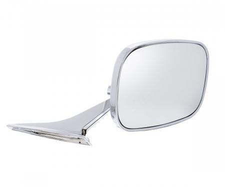United Pacific Rectangular Exterior Mirror w/Convex Mirror Glass For 1968-72 Chevy Passenger Car - R/H 110295