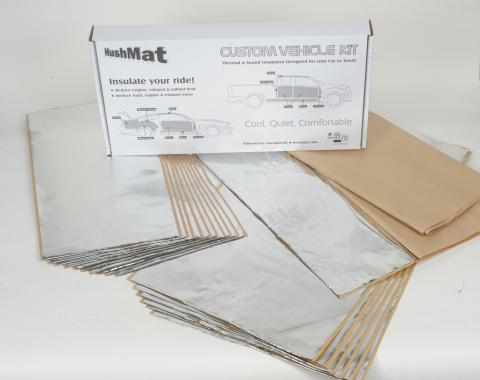 HushMat Raised Roof Cab 68 in to 72 in Sleeper - Sleeper and Floor Insulation Kit 81120