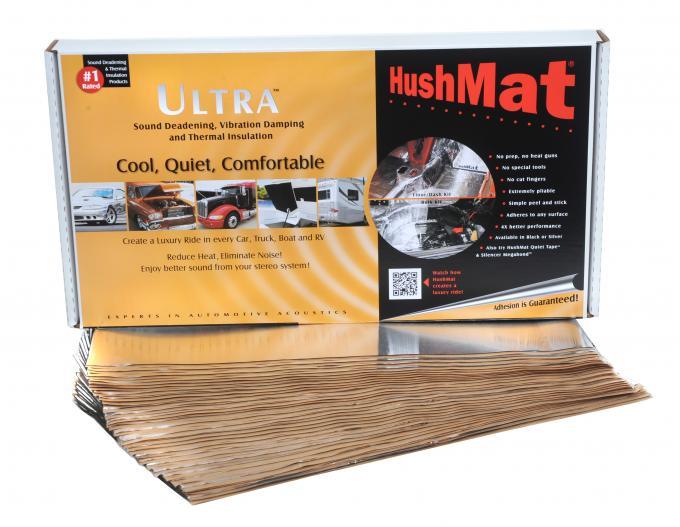 """HushMat Bulk Kit - Silver Foil with Self-Adhesive Butyl-30 Sheets 12"""" x 23"""" ea 58 sq ft 10501"""