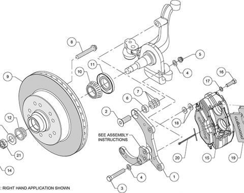Wilwood Brakes Classic Series Dynalite Front Brake Kit 140-14663-R