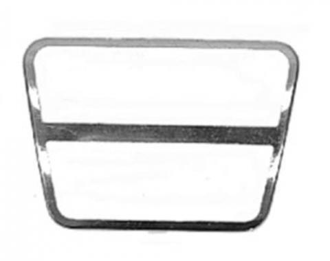 Corvette Brake or Clutch Pad Trim, Stainless Steel, 1968-1979