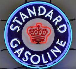 Neonetics Standard Size Neon Signs, Gas - Standard Gasoline Neon Sign with Backing