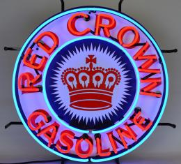 Neonetics Standard Size Neon Signs, Gas - Red Crown Gasoline Neon Sign with Backing