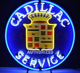 Neonetics Standard Size Neon Signs, Cadillac Service Neon Sign
