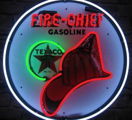Neonetics Standard Size Neon Signs, Texaco Fire Chief Neon Sign