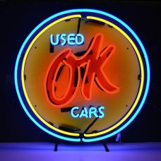 Neonetics Standard Size Neon Signs, Chevy Vintage Ok Used Cars Neon Sign