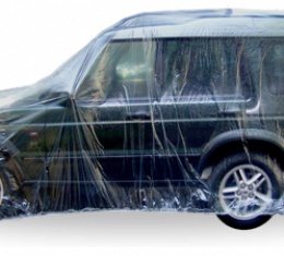 Car Cover, Disposable Clear, Large