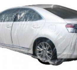 Car Cover, Disposable Clear, Small, Case of 20