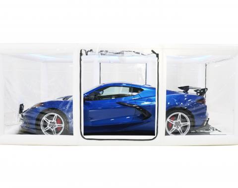 CarCapsule™ Signature Series Showcase, Indoor White with Road Emblazoned Floor