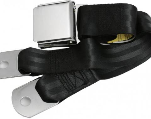 "Replacement Seat Belt, with Chrome Aviation-Style Lift Buckle (60"" Webbing)"