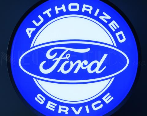 Neonetics Backlit and Specialty Led Signs, Ford Authorized Service 15 Inch Backlit Led Lighted Sign