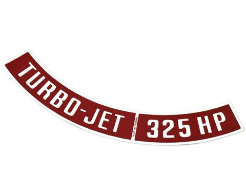 Chevelle Air Cleaner Decal, Turbo-Jet 325 hp, 1964-1972