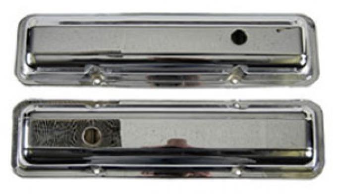 Classic Headquarters SS / Z-28 / Corvette Valve Covers-Pair Chrome W-542