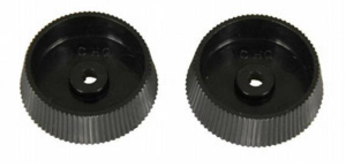 Classic Headquarters Tone and Fader Knobs Black, Pr W-197A