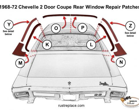 Chevelle Roof Window Repair Channel Half, Left, 1968-1972