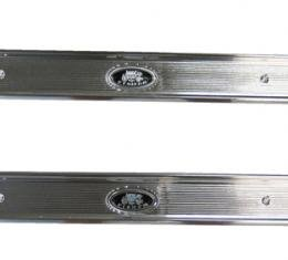 Chevelle Sill Plates, With Fisher Emblems, For 2-Doors Cars, 1968-1972