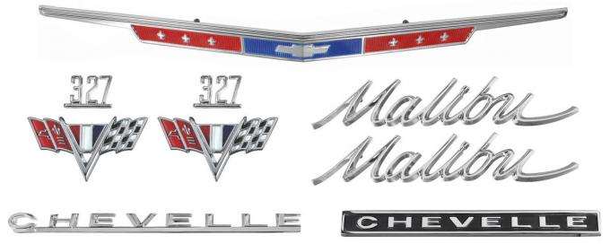 Chevelle And Malibu Emblem Kit, 327, 1967