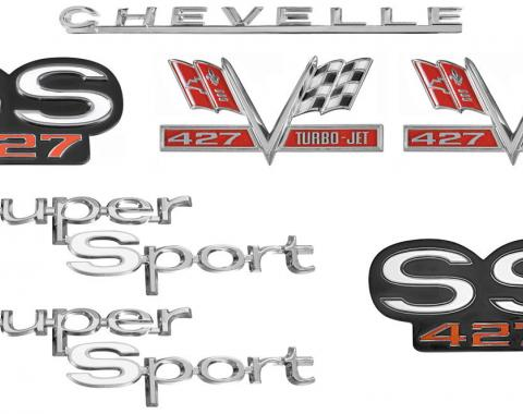 Chevelle And Malibu Emblem Kit, Super Sport 427, 1967