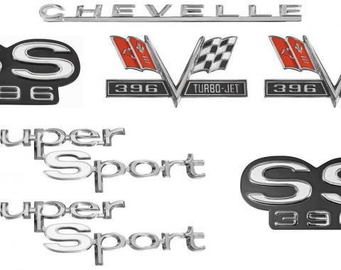 Chevelle And Malibu Emblem Kit, Super Sport 396, 1967