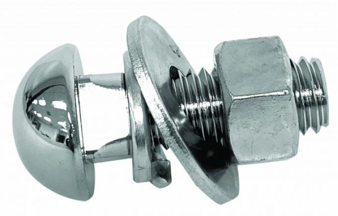 Chevy Or GMC Bumper Mounting Bolt, Chrome, 1947-1972