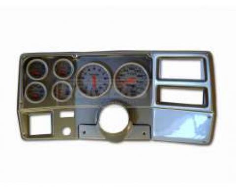 Classic Dash Instrument Panel, Brushed Aluminum, With Autometer Ultralite Electric Gauges, 1973-1983