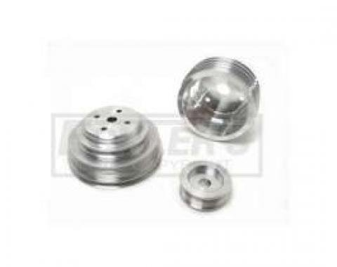 GM 305/350 Truck BBK 3-Pc Underdrive Aluminum Pulley Kit, 1985-1987