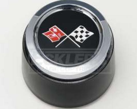 Truck 1973-1979 Corvette Style Black Center Wheel Cap, For Corvette Style Aluminum Wheels
