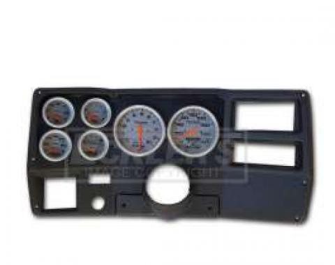 Classic Dash Instrument Panel, Black, With Autometer Ultralite Electric Gauges, 1973-1983