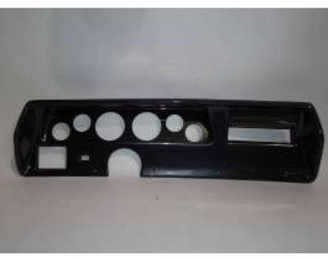 Chevelle Instrument Cluster Panel, Super Sport (SS) Style, Carbon Fiber Finish, With Pre-Cut Holes, 1970-1972