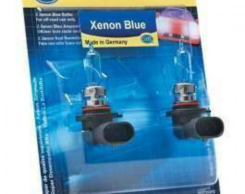 Chevelle Headlight Bulbs, Halogen, H4, Xenon Blue, Hella, 60/55W, 1970-1975