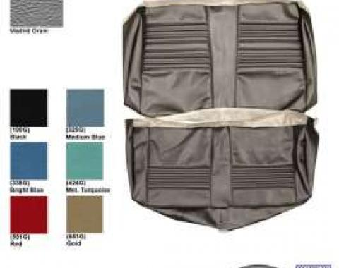 Chevelle & Malibu Covers, Rear Seat, Convertible, Concours, Black, 1967