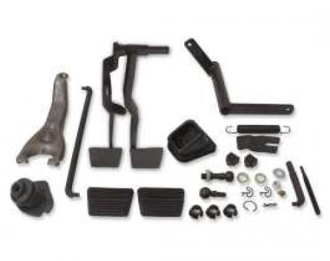 Chevelle Clutch Linkage Conversion Kit, Automatic To Manual Transmission, Small Block, 1967