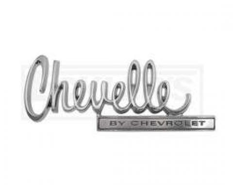Chevelle Trunk Emblem, Chevelle By Chevrolet, 1970