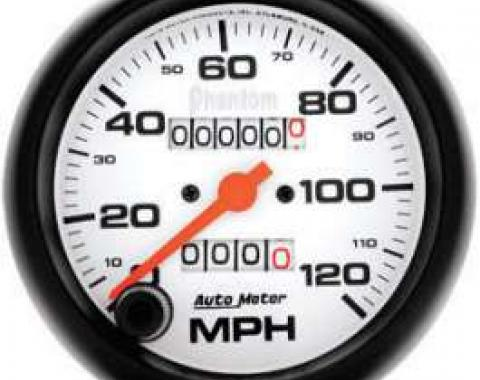 Chevelle Speedometer, Electric, 120 MPH, Phantom Series, AutoMeter, 1964-1972
