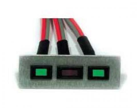 Chevelle Indicator Panel, Turn Signal & High Beam, LED, 1964-1983