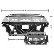 Chevelle Rear Seat Divider & Package Shelf, 2-Door Coupe, 1968-1972