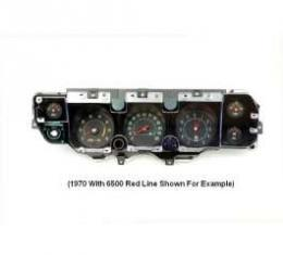 Chevelle Instrument Cluster Assembly, With 5000 RPM Redline Tachometer, Super Sport (SS), 1971-1972