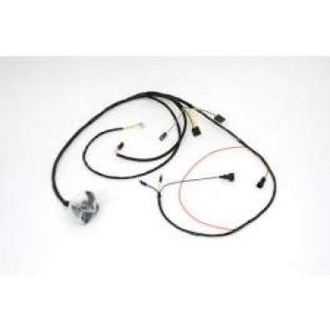 Chevelle Engine Wiring Harness, 6 Cylinder, For Cars With Warning Lights & Idle Stop Solenoid, 1968-1969
