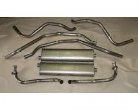 Chevelle Exhaust, Dual, V8, Stainless Steel, 1973-1974