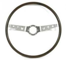 Chevelle Steering Wheel, 2-Spoke, Wood, 1964-1966