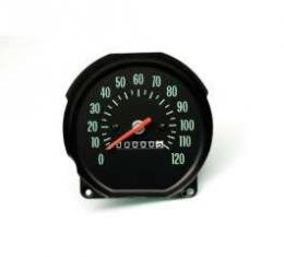 Chevelle Speedometer, With Green Numbers, Super Sport (SS),For Cars With Floor Shift Transmission, 1970