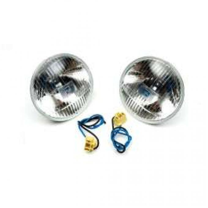 Chevelle Headlights, Halogen, H-4 Hi-Beam, 5-3/4, Xenon Bulb, 1964-1970