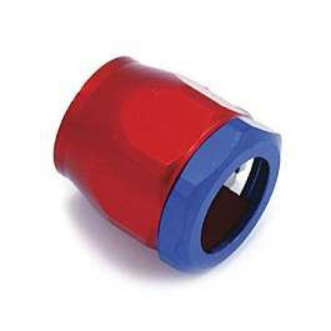 Chevelle Heater Hose Fitting, Red/Blue, 5/8
