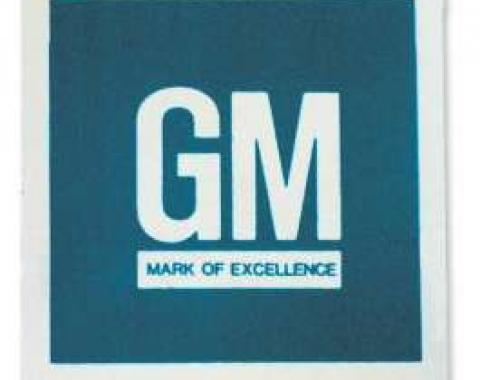 Chevelle Decal, GM Mark Of Excellence, Early ''67, 1966-1967