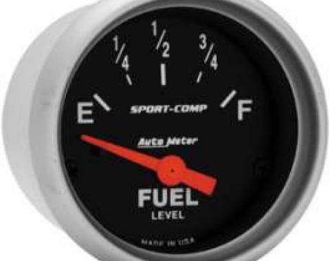 Chevelle Gas Gauge, 0-90 Ohm, Sport-Comp Series, Auto Meter, 1964-1972