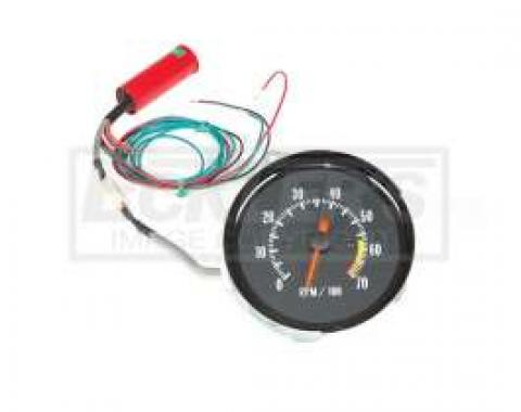 Chevelle Tachometer, 7000 RPM, In-Dash Clock Conversion, For Cars With Super Sport (SS) Style Dash, 1970